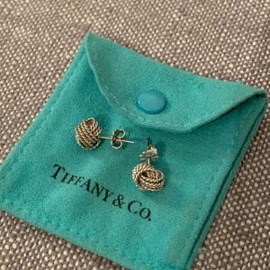 Tiffany & Co mesh knot twist earrings AUTHENTIC